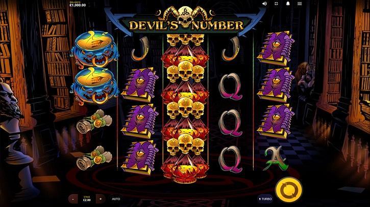 devils number slot screen