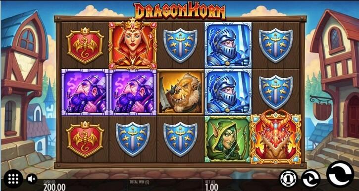 dragon horn slot screen