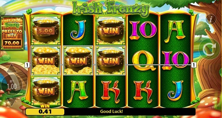 irish frenzy slot screen