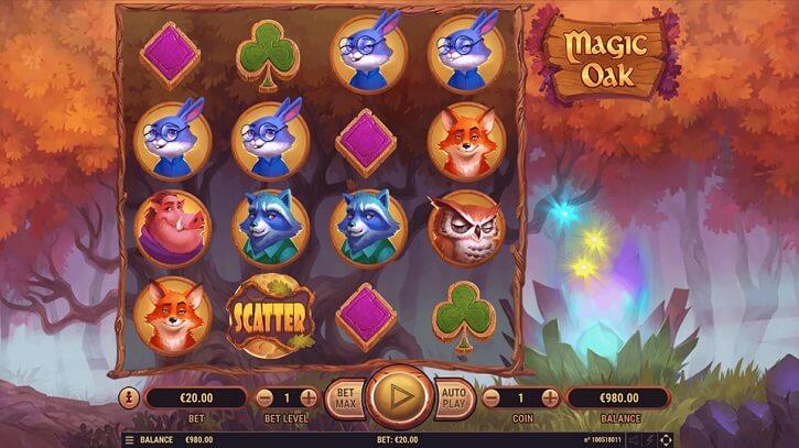 magic oak slot screen