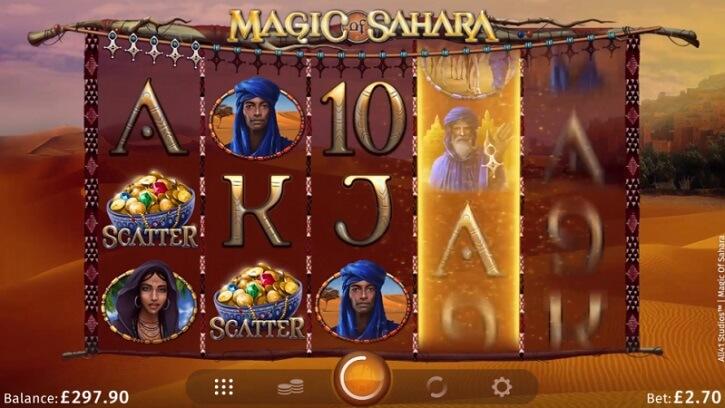 magic of sahara slot screen