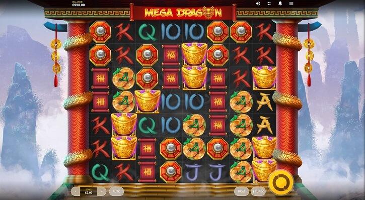 mega dragon slot screen