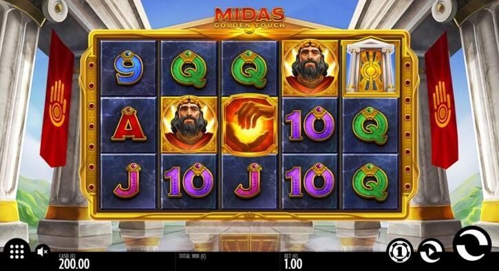 midas golden touch slot screen
