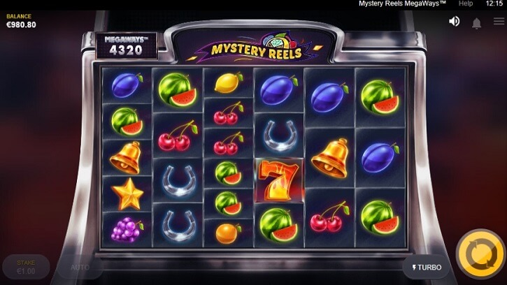 mystery reels megaways slot screen