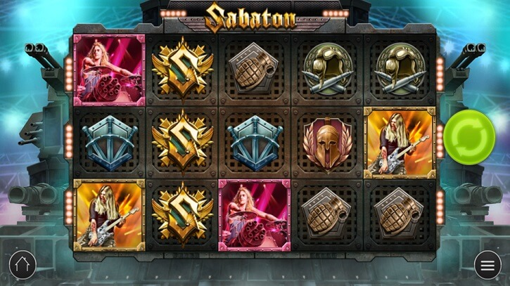 sabaton slot screen