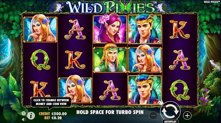 wild pixies slot screen