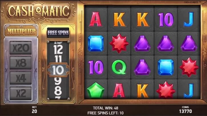 cashomatic slot screen