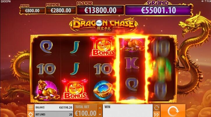 dragon chase slot screen