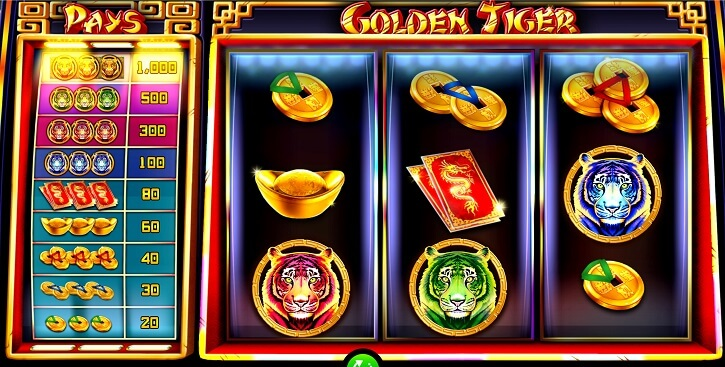golden tiger slot screen