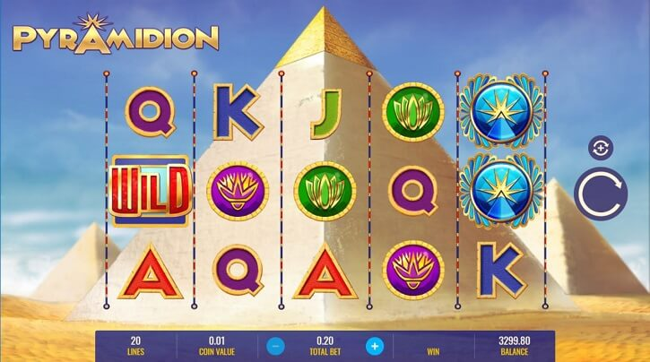pyramidion slot screen