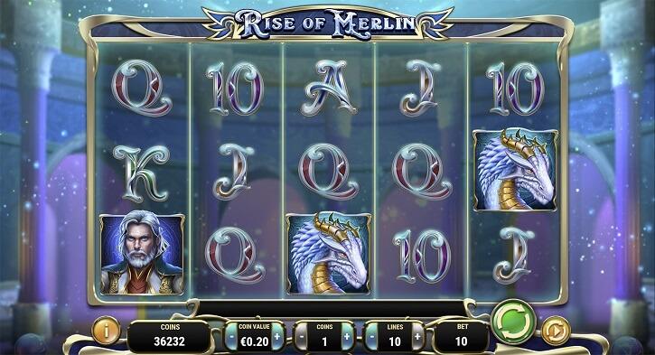rise of merlin slot screen