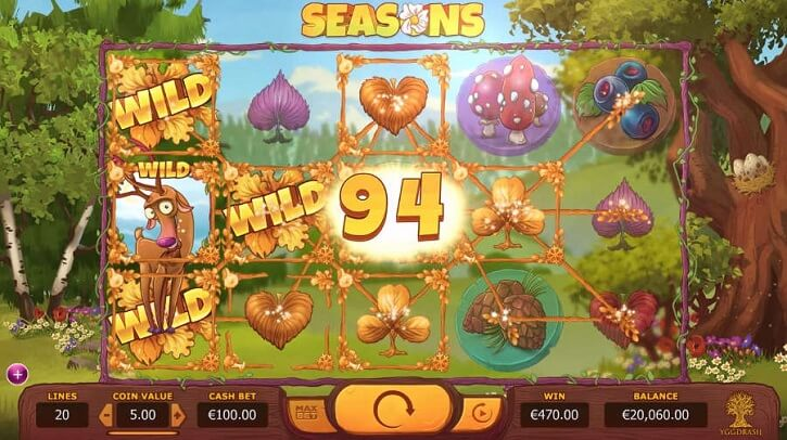 seasons slot screen