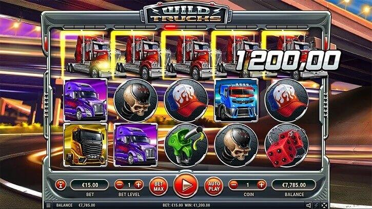 wild trucks slot screen