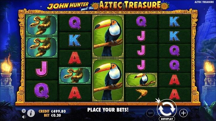 john hunter and the aztec treasure slot screen
