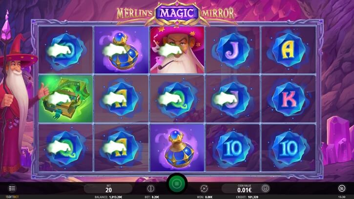 merlins magic mirror slot screen