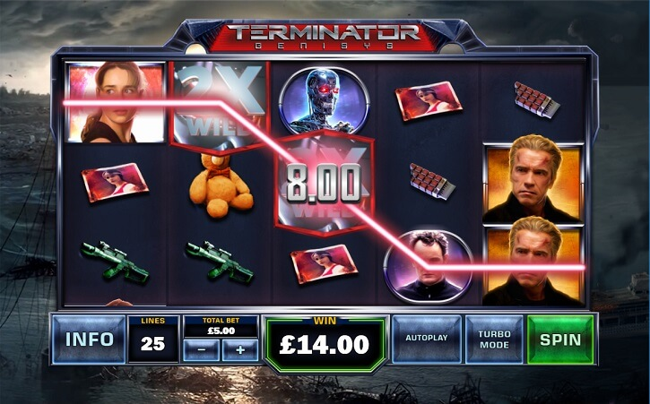 terminator genisys slot screen