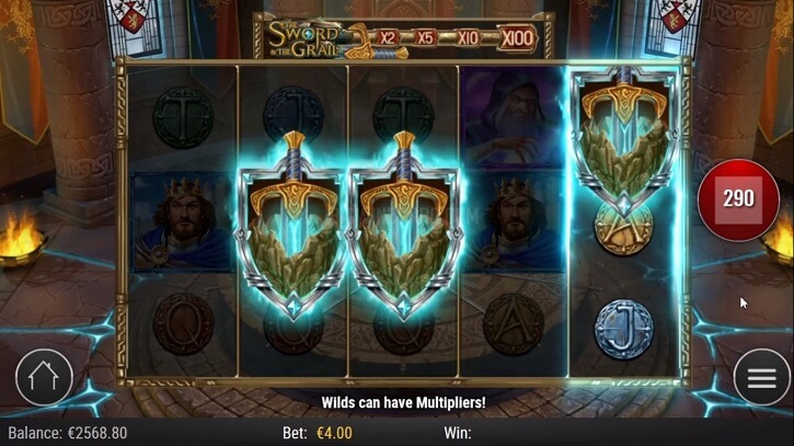 the sword and the grail slot bonus