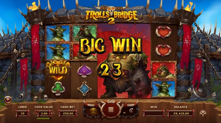 trolls bridge 2 slot screen