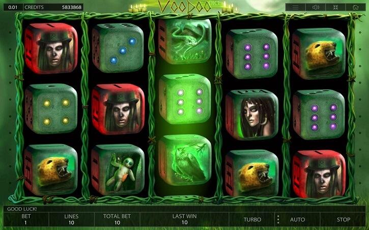 voodoo dice slot screen