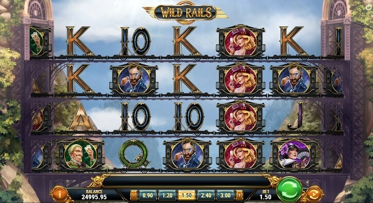 wild rails slot screen