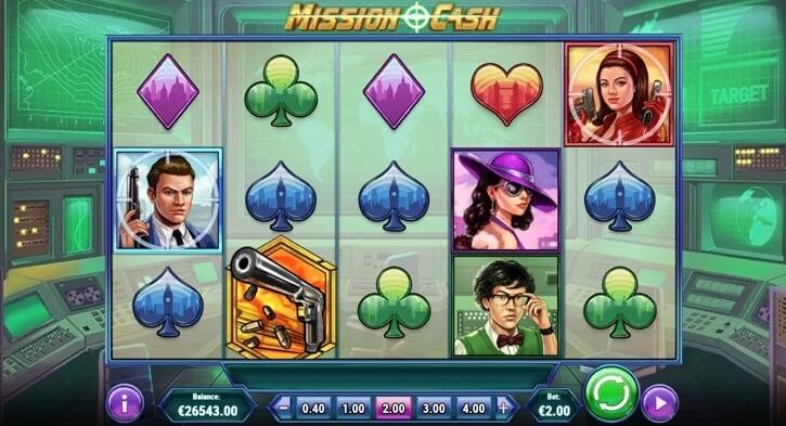 mission cash slot screen