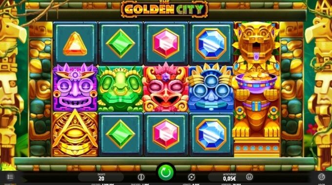 the golden city slot screen