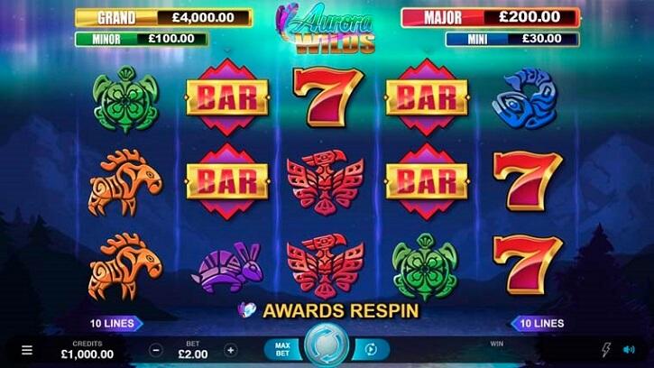 aurora wilds slot screen