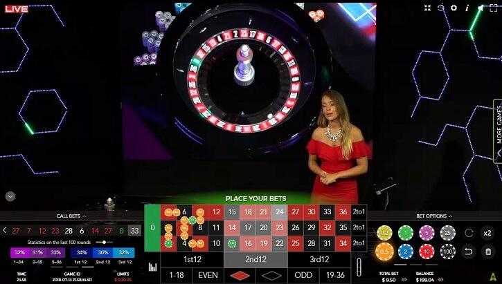 blaze live roulette table
