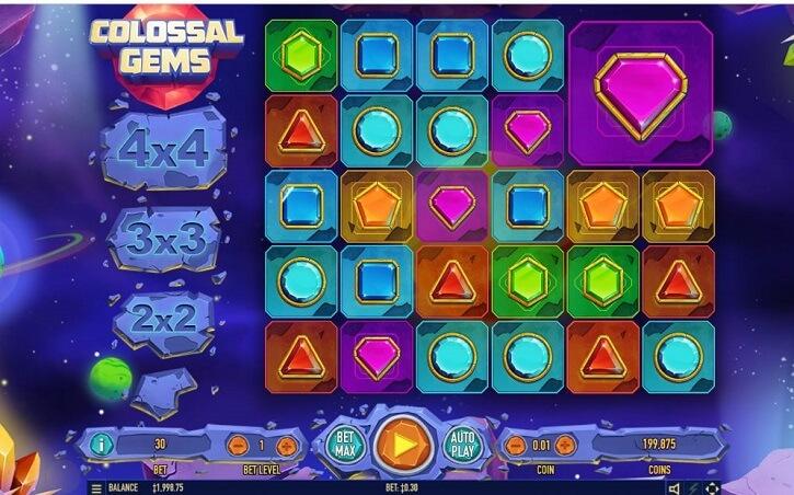 colossal gems slot screen