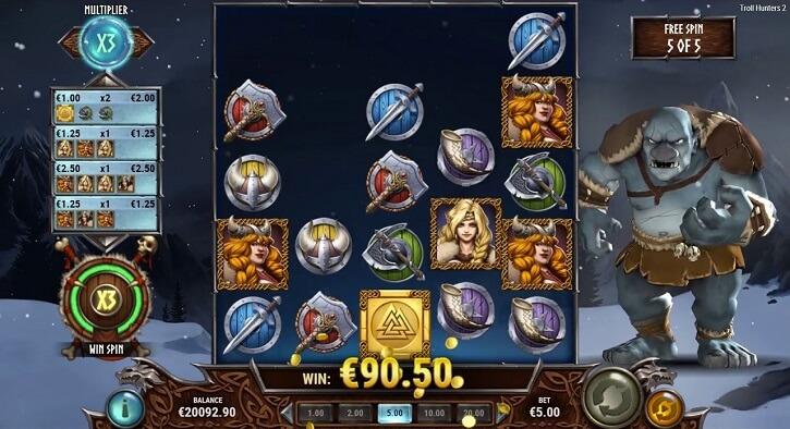 troll hunters 2 slot screen