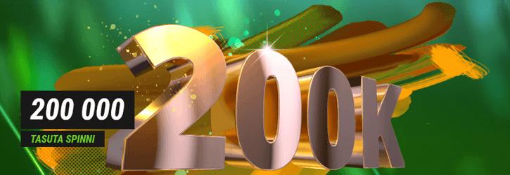 coolbet kasiino 200000 tasuta spinni kampaania