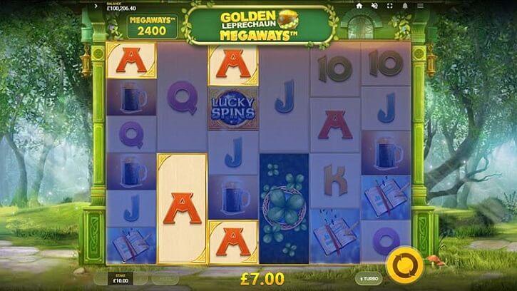 golden leprechaun megaways slot screen
