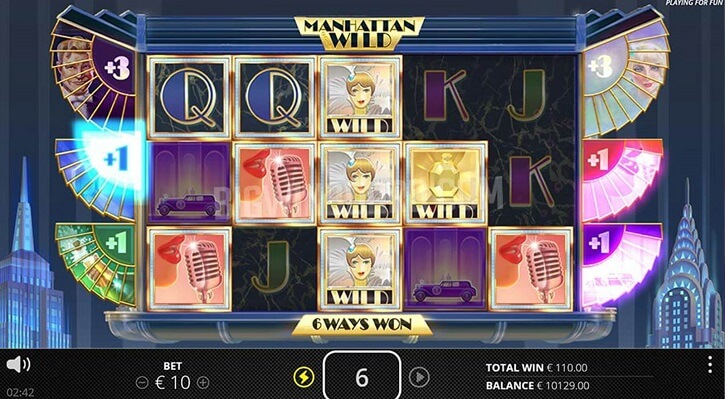 manhattan wild slot screen