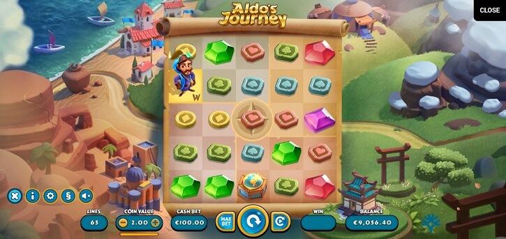 aldos journey slot screen
