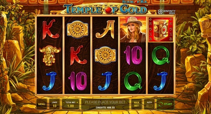 book of ra temple of gold slot screen