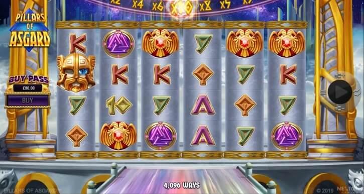 pillars of asgard slot screen