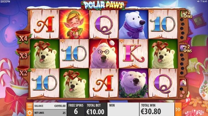 polar paws slot freespins