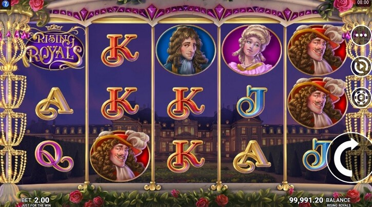 rising royals slot screen