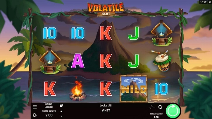 volatile slot screen