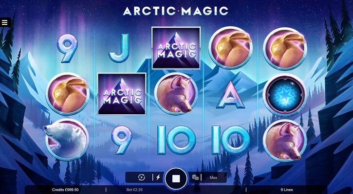 arctic magic slot screen