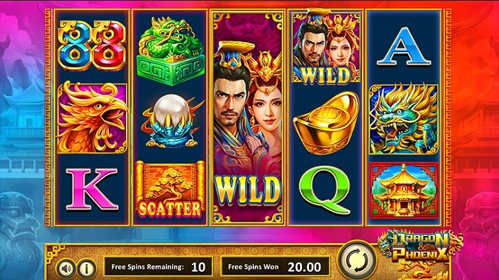 dragon and phoenix slot screen
