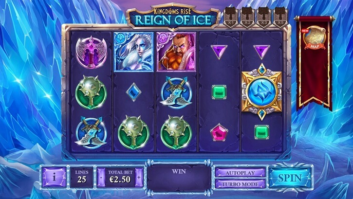 kingdoms rise reign of ice slot screen