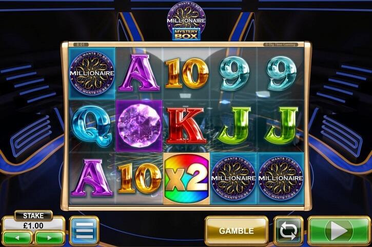 millionaire mystery box slot screen