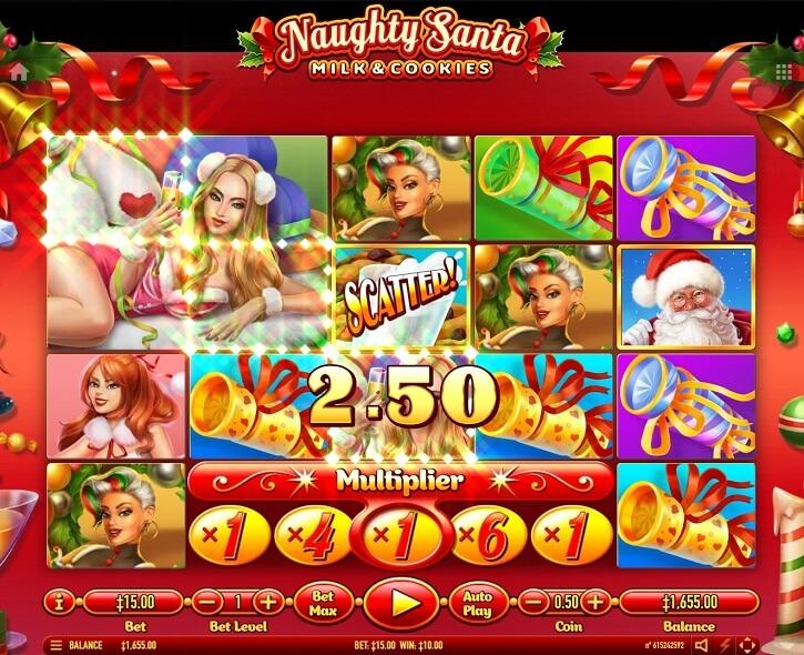 naughty santa slot bonus