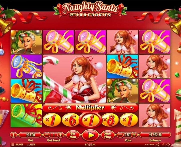 naughty santa slot screen