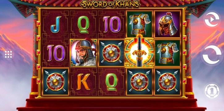 sword of khans slot screen