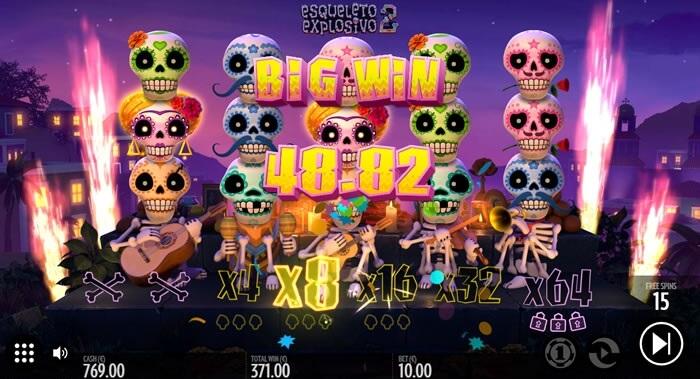 esqueleto explosivo 2 slot screen
