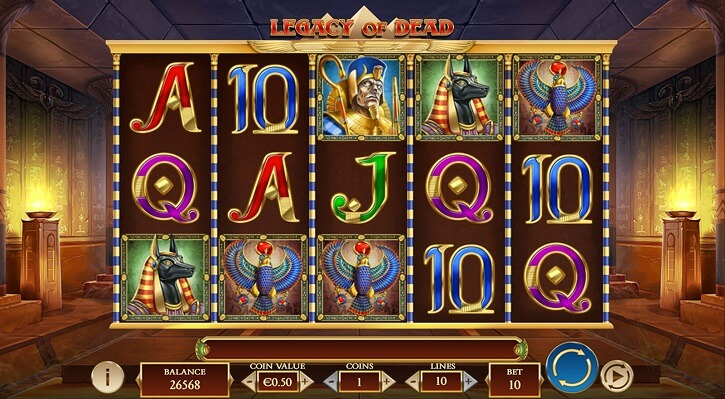 legacy of dead slot screen