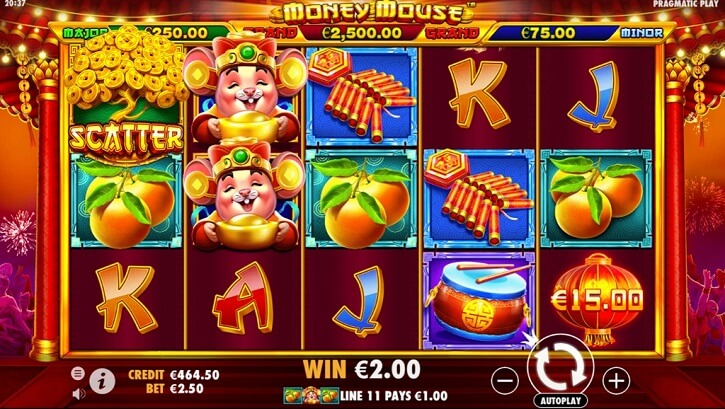 money mouse slot screen
