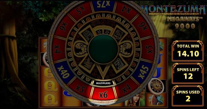 montezuma megaways slot wheel